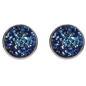 Blue Gravel Stud Earrings (C24)